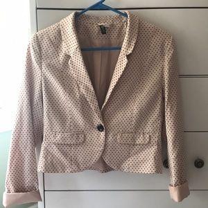 Cropped polka dot blazer